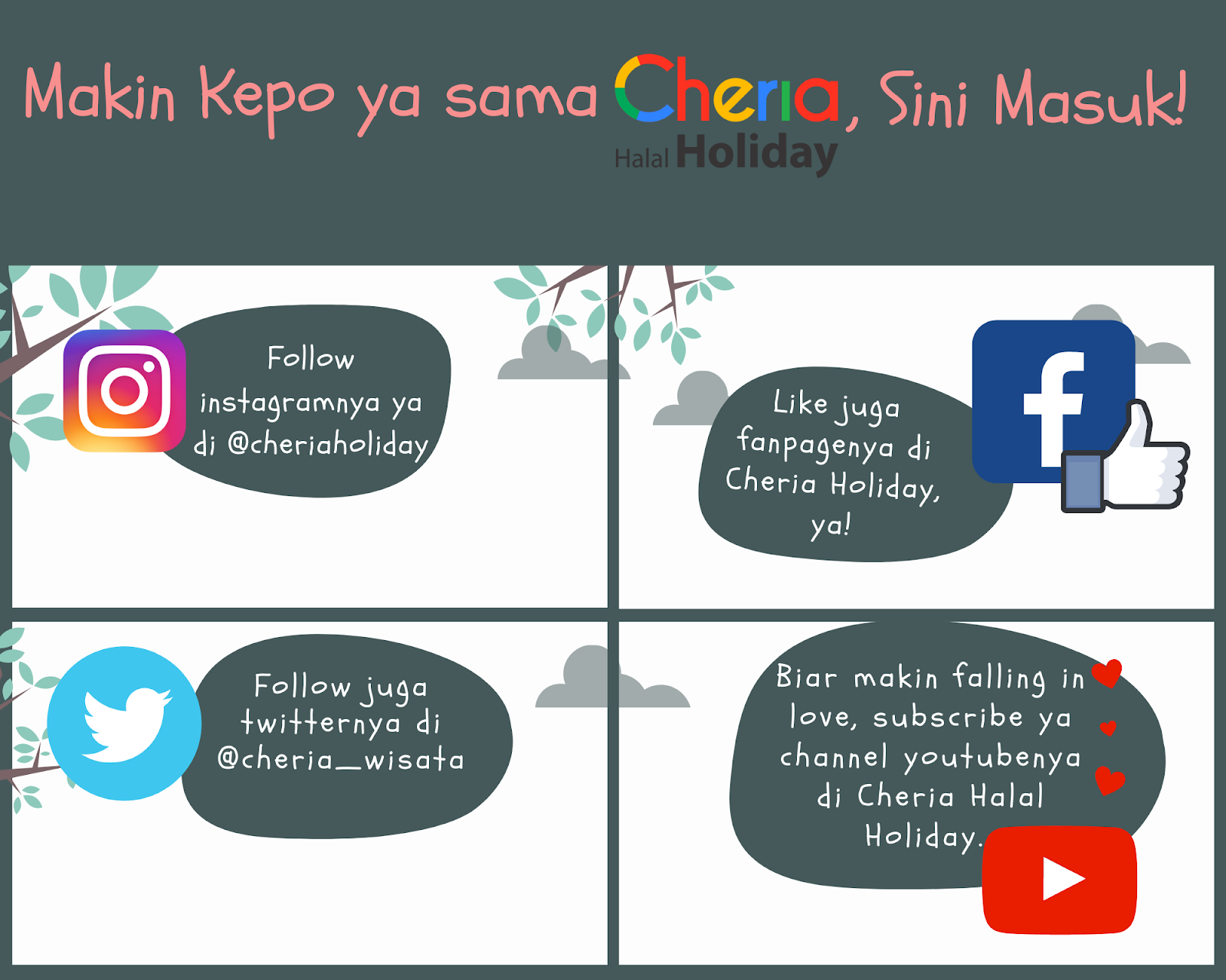 Media Sosial Cheria Holiday